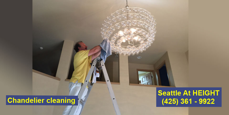 Chandelier cleaning Redmond Seattle