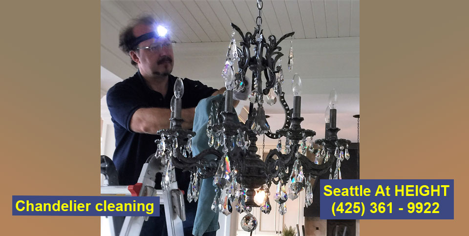 Chandelier cleaning and maintaining